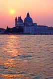 solnedgång venice royaltyfri bild