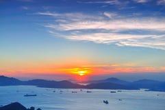 solnedgång victoria Arkivfoton