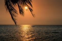 solnedgång vietnam Royaltyfria Bilder