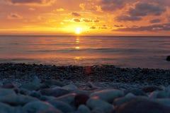 Solnedgång Visby Royaltyfri Fotografi