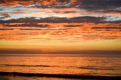 Solnedgång Westland Nederländerna Royaltyfri Fotografi