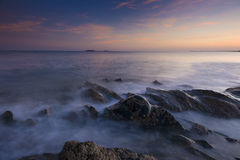 solnedgång wexford Royaltyfri Fotografi