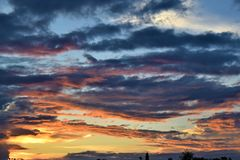 Solnedgångafton royaltyfri foto