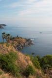 Solnedgångafton, havssynvinkel fotografering för bildbyråer
