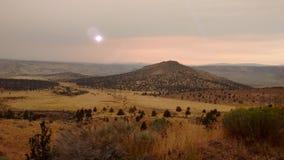 Solnedgångar över Madras, Oregon royaltyfria bilder