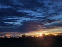 Solnedgångar av Kalifornien arkivfoto