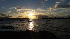 solnedgångar i Banda Aceh Arkivbilder