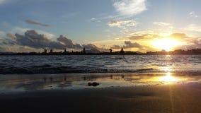 solnedgångar i Banda Aceh Royaltyfri Bild