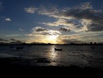 solnedgångar i Banda Aceh Arkivbild