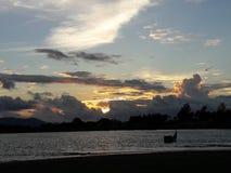 solnedgångar i Banda Aceh Royaltyfri Foto
