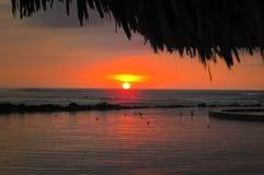 Solnedgångar i El Salvador royaltyfri foto