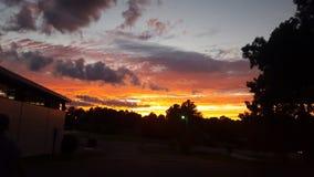 Solnedgångarbete Royaltyfri Bild