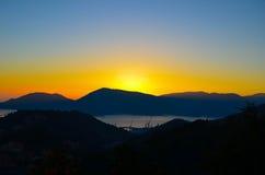 Solnedgångberg i Italien Arkivbilder