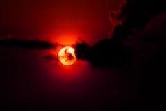 Solnedgångbild Fotografering för Bildbyråer