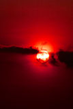 Solnedgångbild Arkivbild
