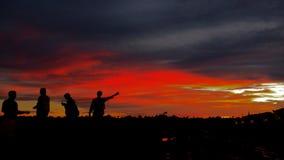 Solnedgångborneo ö Fotografering för Bildbyråer