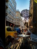 Solnedgångboulevard arkivfoto