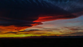 Solnedgångdel fem Arkivfoto