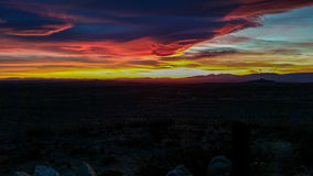 Solnedgångdel två Arkivfoto