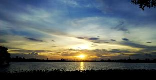 Solnedgångdikotakelahiran Royaltyfri Bild