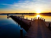 Solnedgångdrömmar - ferier Arkivfoto