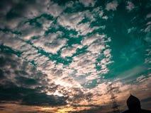 Solnedgången är fantastisk Fotografering för Bildbyråer