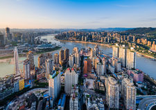 Solnedgången av Chongqing Royaltyfria Bilder