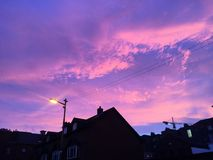 Solnedgången av Dublin Royaltyfri Foto