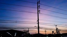 Solnedgången dör makt & Branchs royaltyfri foto