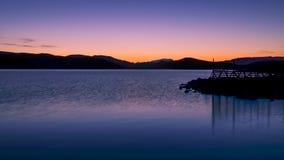 Solnedgången färgar Arkivbild