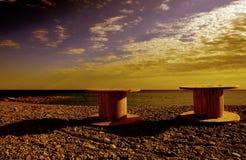 Solnedgången färgar Fotografering för Bildbyråer