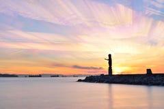 Solnedgången för den Tid schackningsperioden, Ambleside parkerar Arkivfoto