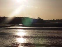 Solnedgången glittrar Royaltyfri Fotografi