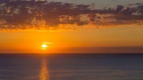 Solnedgången i Sardinia Arkivbild