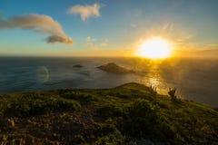 Solnedgången på Arraial gör Cabo Royaltyfria Foton