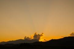Solnedgången på min ferie Royaltyfri Bild