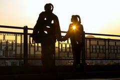 Solnedgången på Naksan parkerar Royaltyfri Bild