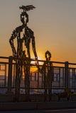Solnedgången på Naksan parkerar Royaltyfria Foton