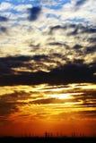 Solnedgången tänder royaltyfria bilder
