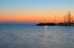 Solnedgångfärger Royaltyfri Fotografi