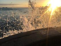 Solnedgångfärgstänk Fotografering för Bildbyråer