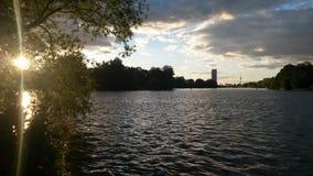 Solnedgångfest Arkivfoto