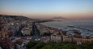 Solnedgångfjärd av Naples Royaltyfri Fotografi