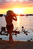 Solnedgångfotografi Fotografering för Bildbyråer