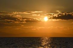 Solnedgångfred Fotografering för Bildbyråer