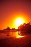 Solnedgångglöd fotografering för bildbyråer