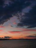 Solnedgångglöd Arkivfoton
