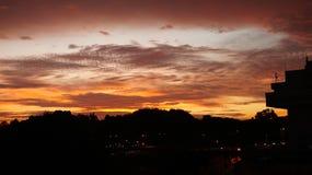 Solnedgångglöd Royaltyfria Foton