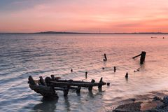 Solnedgångglöd av kusthaverit Royaltyfri Bild
