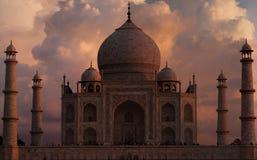 Solnedgångglöd på Taj Mahal Fotografering för Bildbyråer